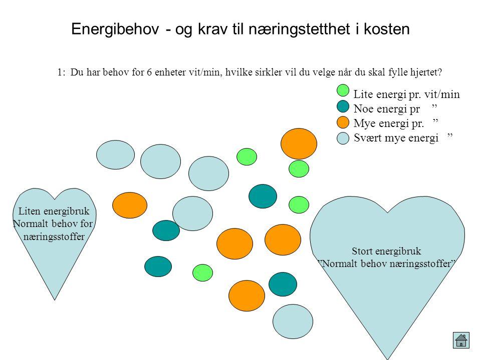 Energibehov - og krav til næringstetthet i kosten
