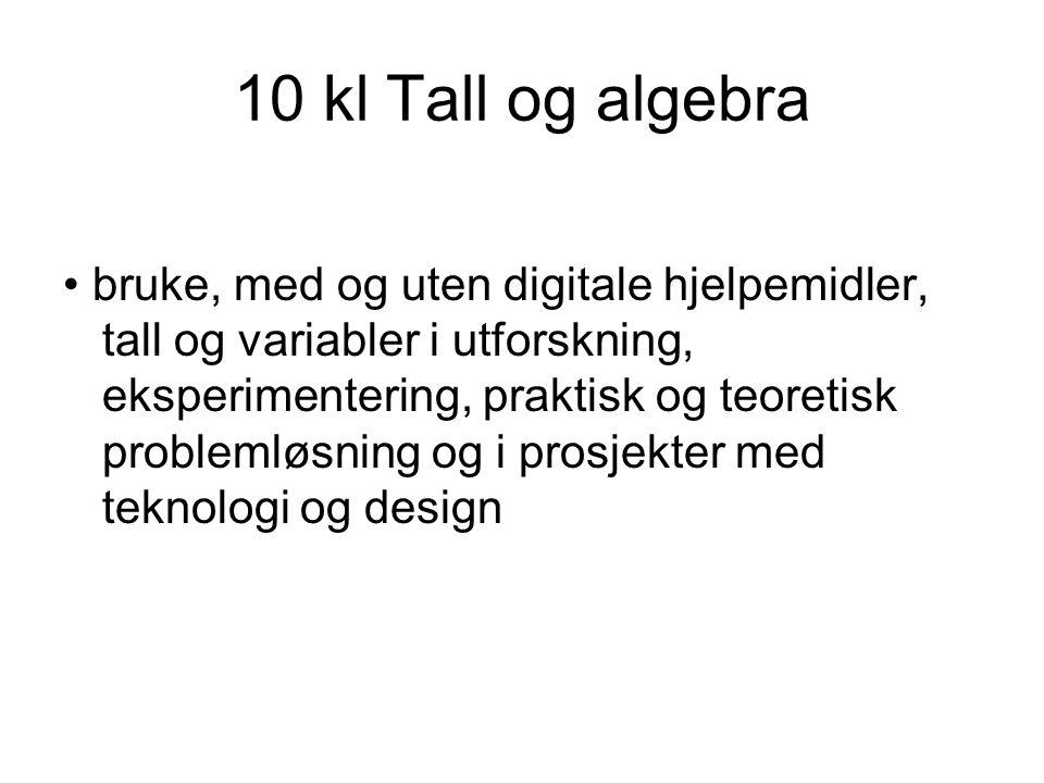 10 kl Tall og algebra