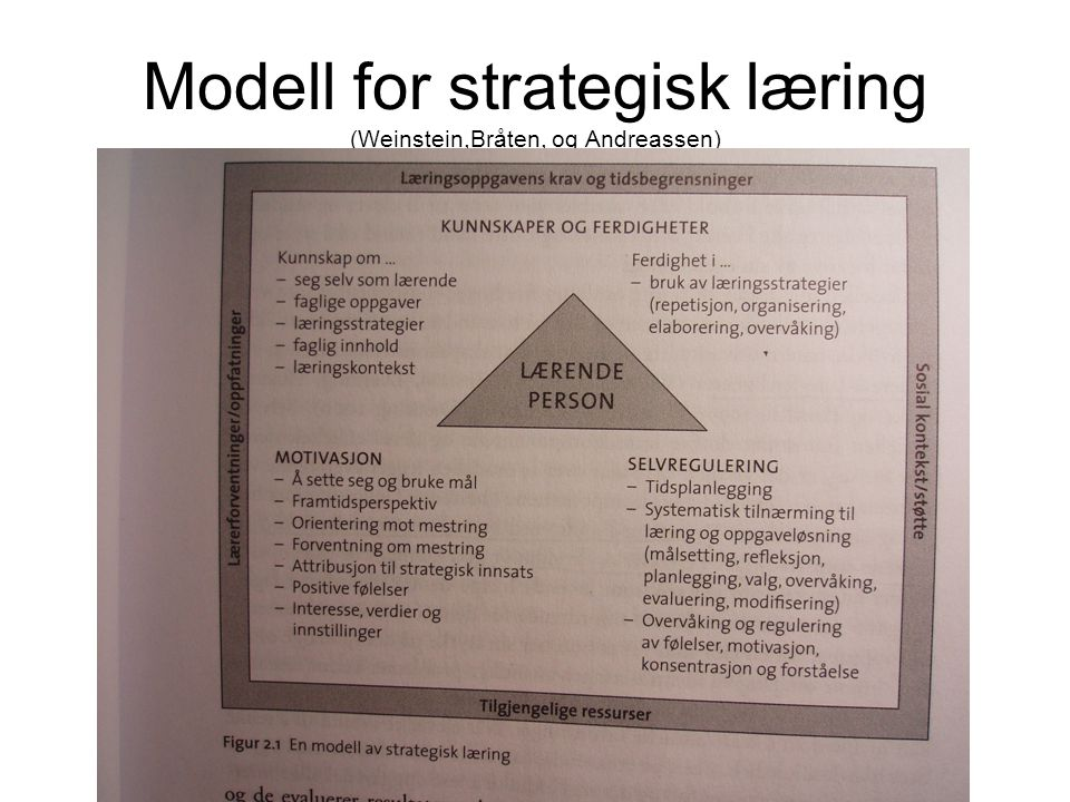 Modell for strategisk læring (Weinstein,Bråten, og Andreassen)