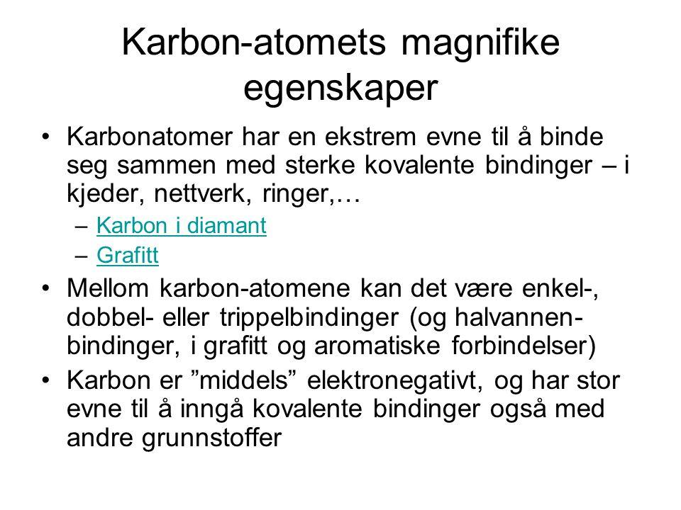 Karbon-atomets magnifike egenskaper