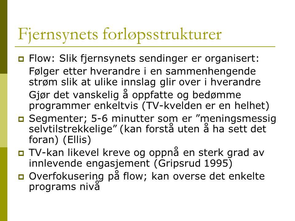 Fjernsynets forløpsstrukturer