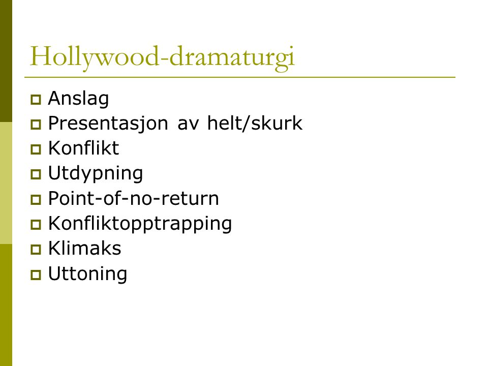 Hollywood-dramaturgi