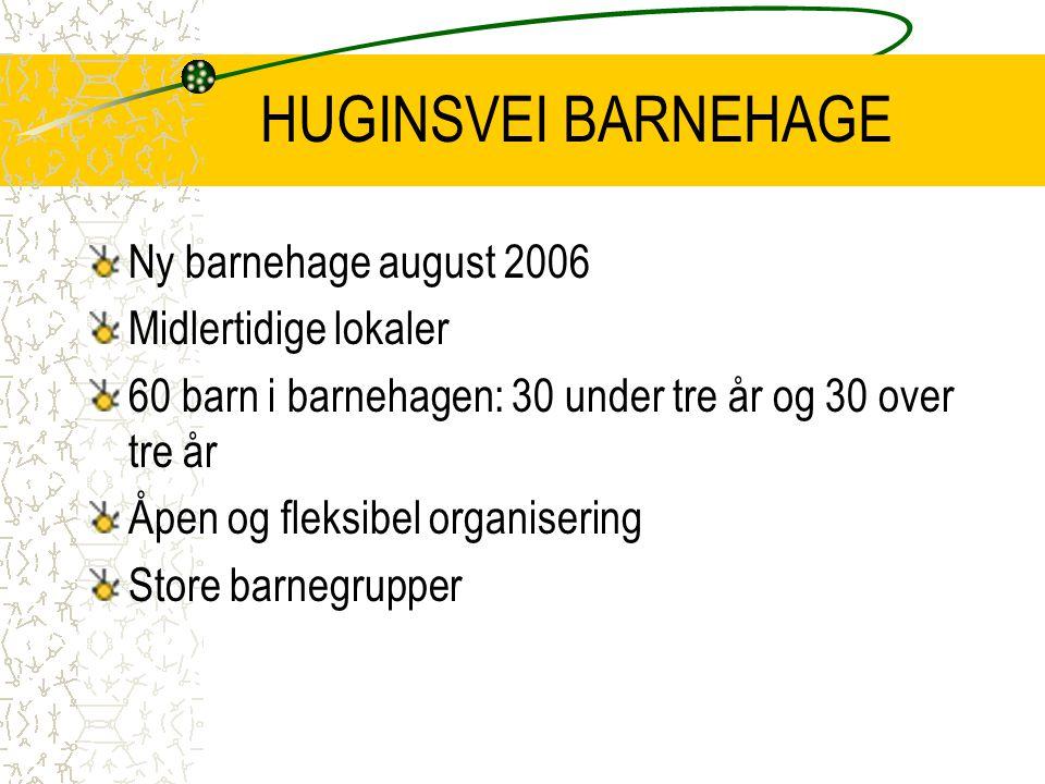HUGINSVEI BARNEHAGE Ny barnehage august 2006 Midlertidige lokaler