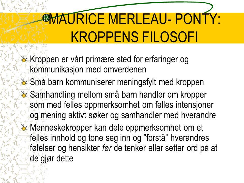MAURICE MERLEAU- PONTY: KROPPENS FILOSOFI