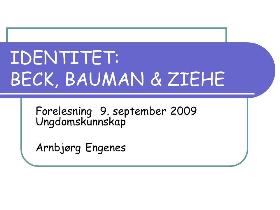 IDENTITET: BECK, BAUMAN & ZIEHE