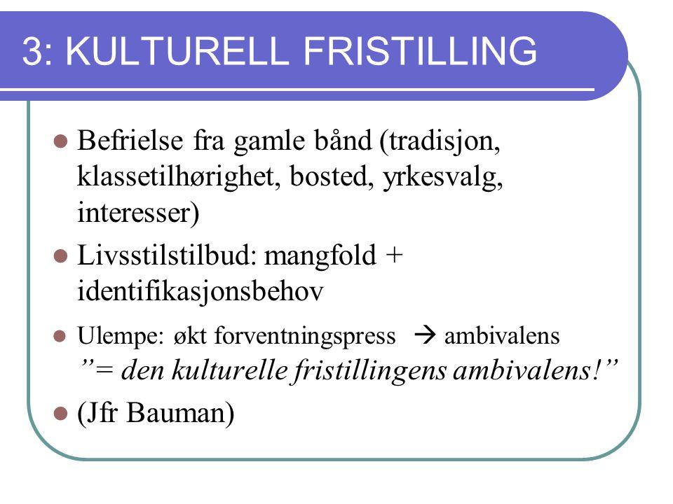 3: KULTURELL FRISTILLING