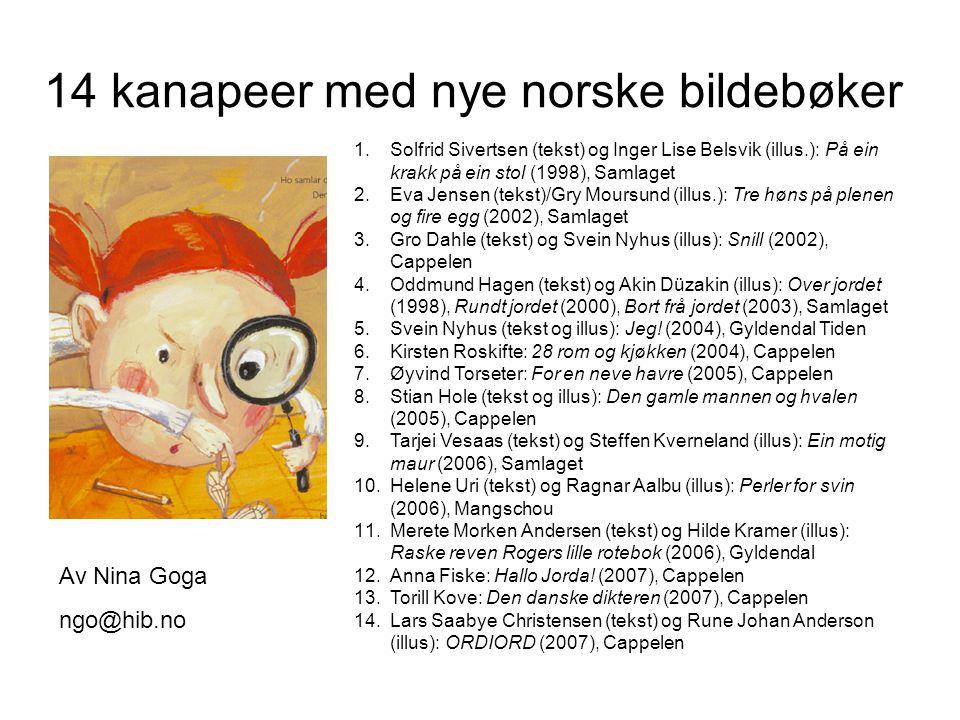 14 kanapeer med nye norske bildebøker