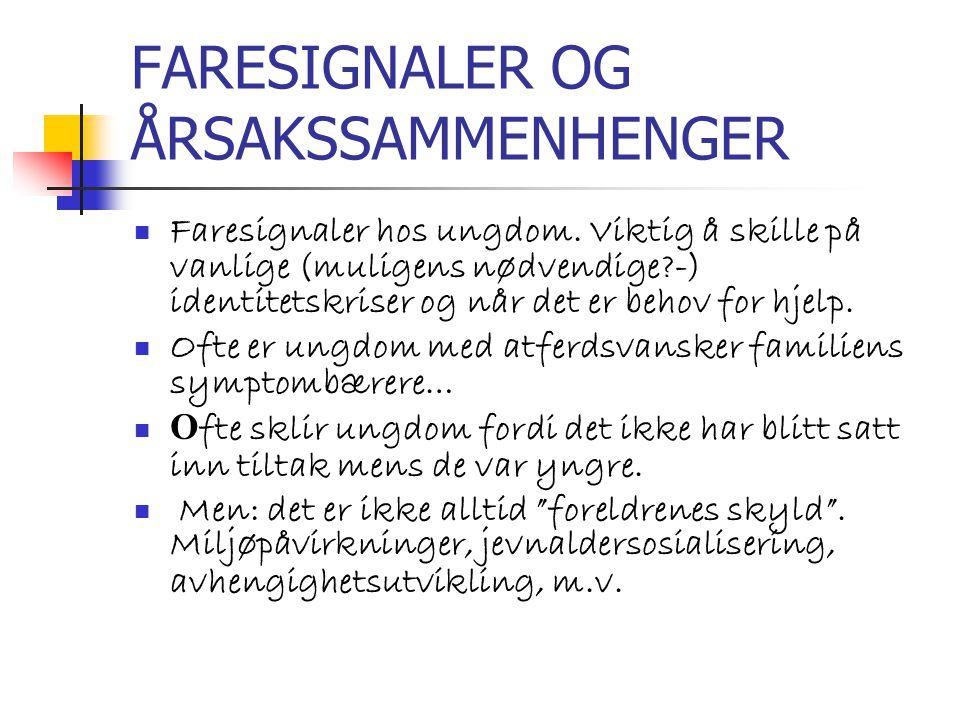 FARESIGNALER OG ÅRSAKSSAMMENHENGER