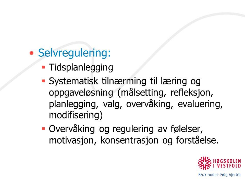 Selvregulering: Tidsplanlegging