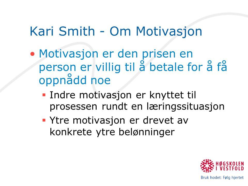 Kari Smith - Om Motivasjon