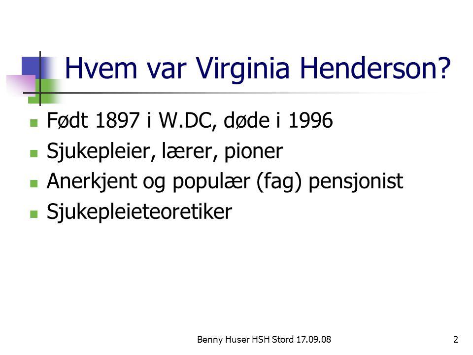 Hvem var Virginia Henderson