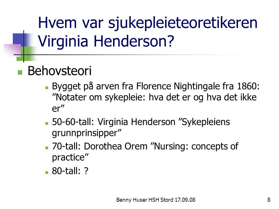 Hvem var sjukepleieteoretikeren Virginia Henderson