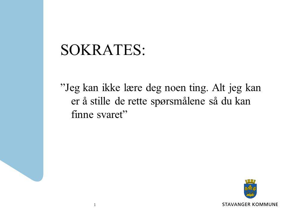 SOKRATES: Jeg kan ikke lære deg noen ting.