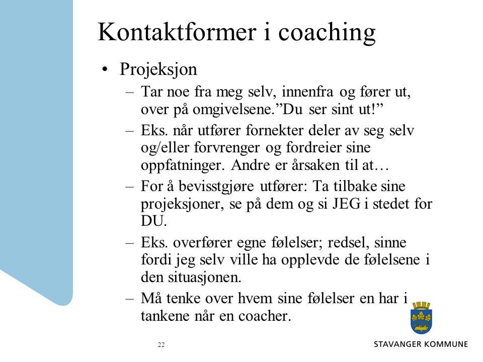 Kontaktformer i coaching