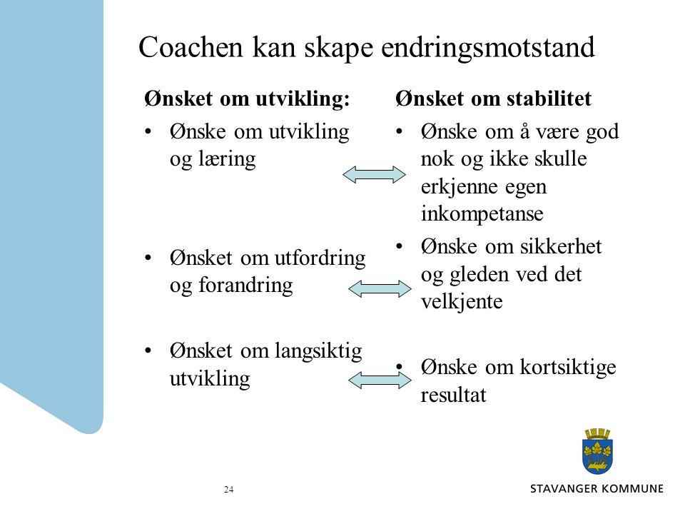 Coachen kan skape endringsmotstand