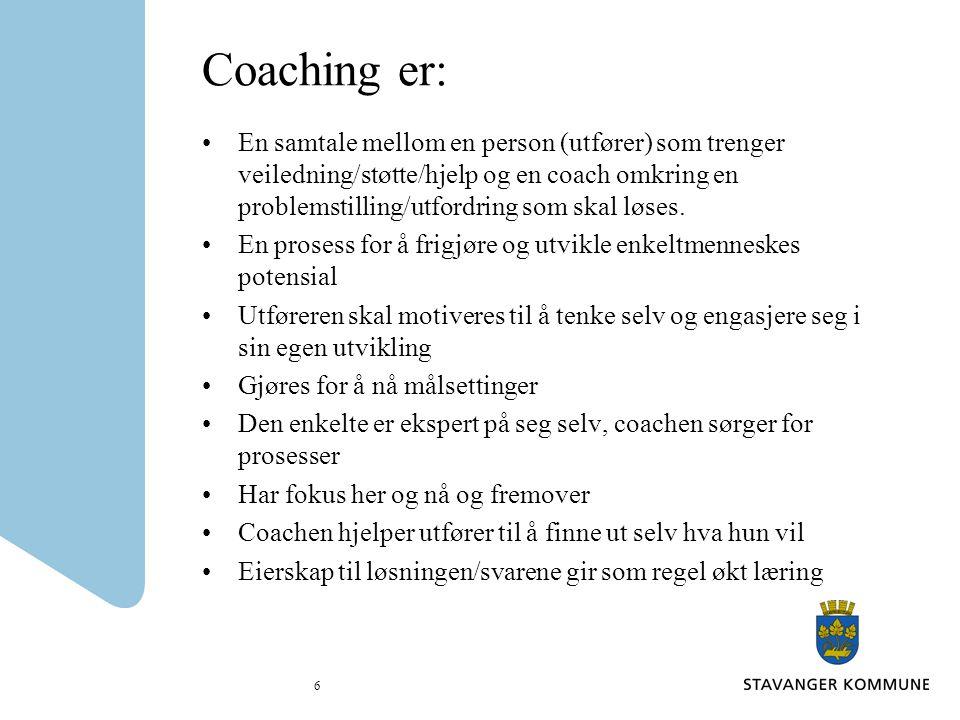 Coaching er: