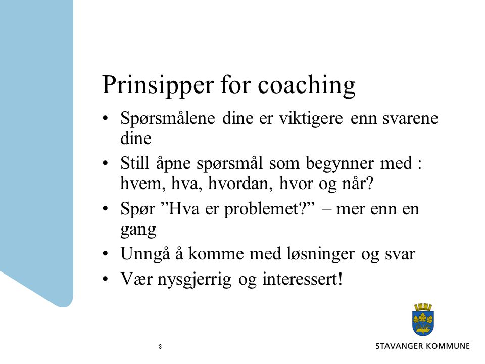 Prinsipper for coaching