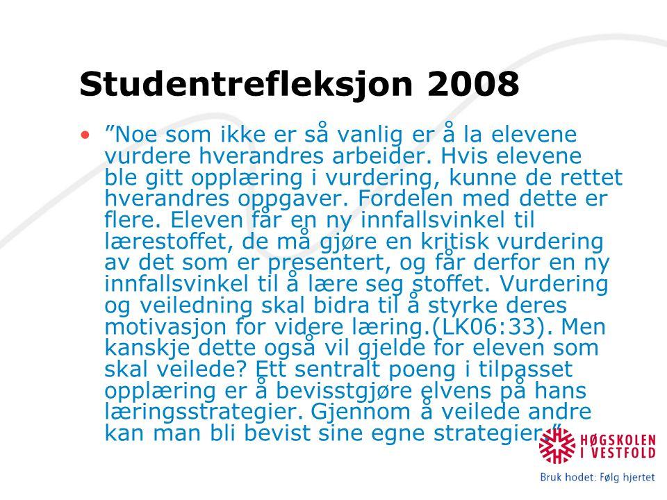 Studentrefleksjon 2008