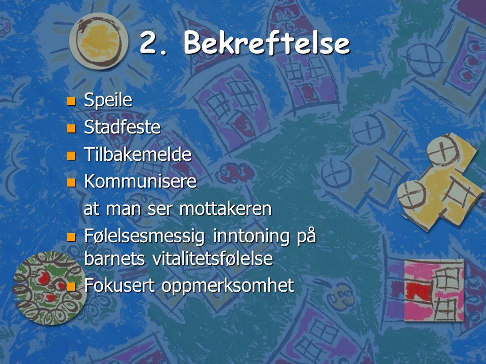 2. Bekreftelse Speile Stadfeste Tilbakemelde Kommunisere