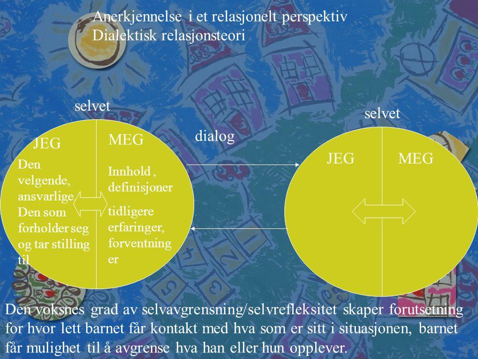 Anerkjennelse i et relasjonelt perspektiv Dialektisk relasjonsteori