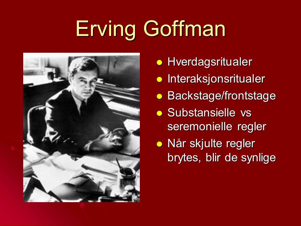 Erving Goffman Hverdagsritualer Interaksjonsritualer