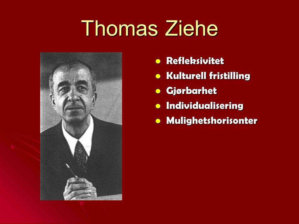 Thomas Ziehe Refleksivitet Kulturell fristilling Gjørbarhet