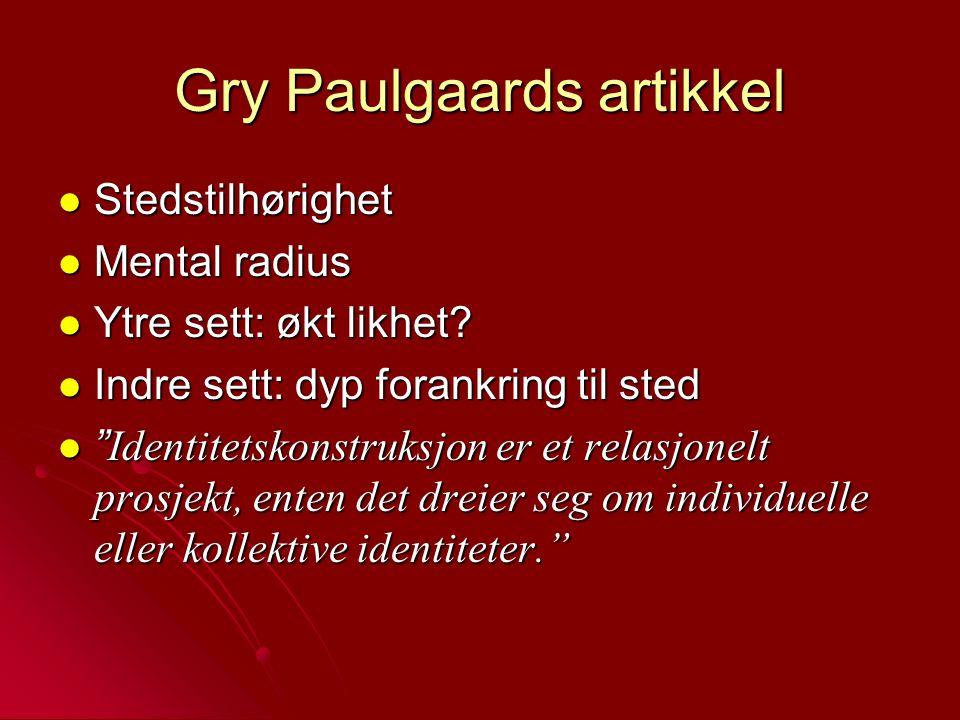 Gry Paulgaards artikkel
