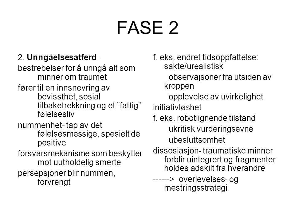 FASE 2 2. Unngåelsesatferd-