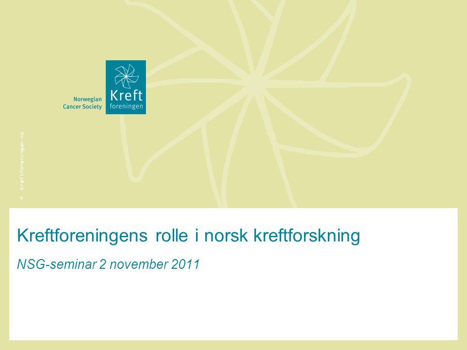 Kreftforeningens rolle i norsk kreftforskning