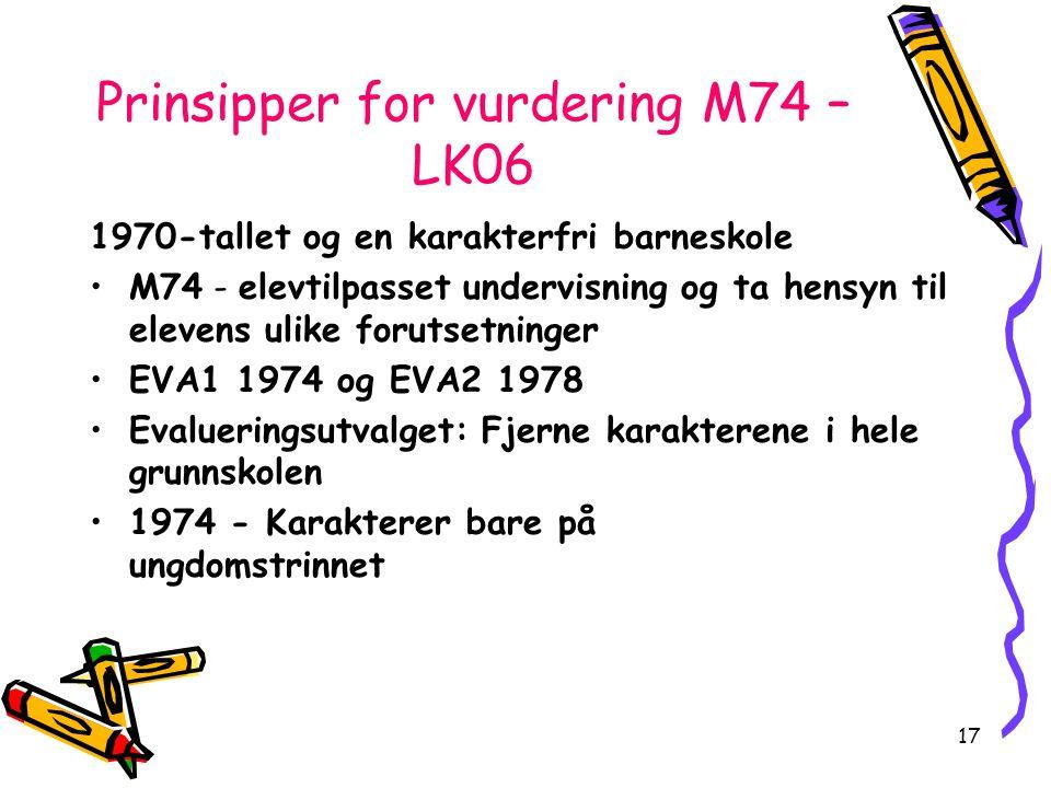 Prinsipper for vurdering M74 – LK06