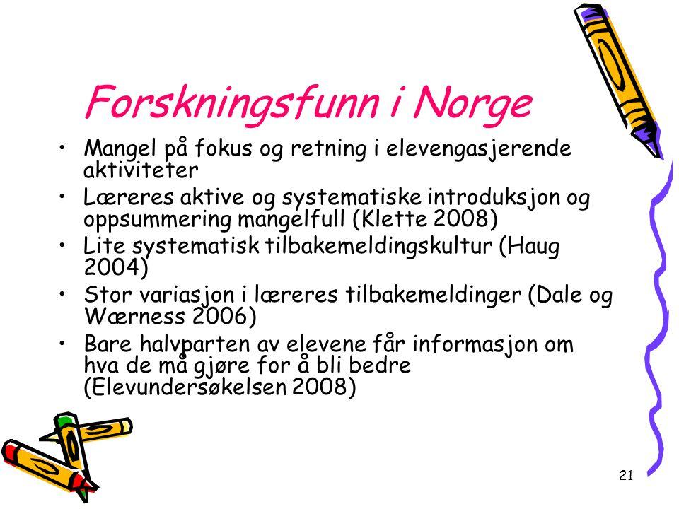 Forskningsfunn i Norge