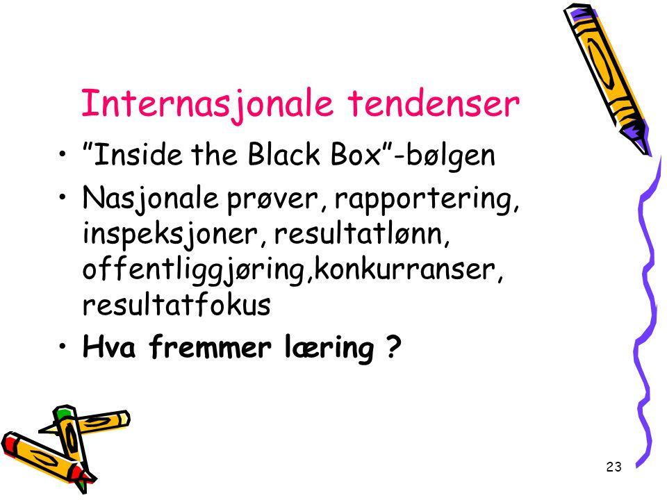 Internasjonale tendenser