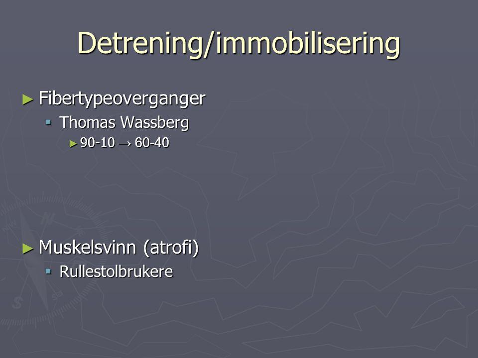 Detrening/immobilisering