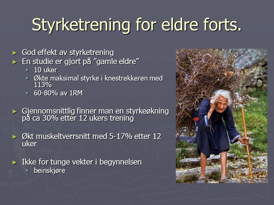 Styrketrening for eldre forts.