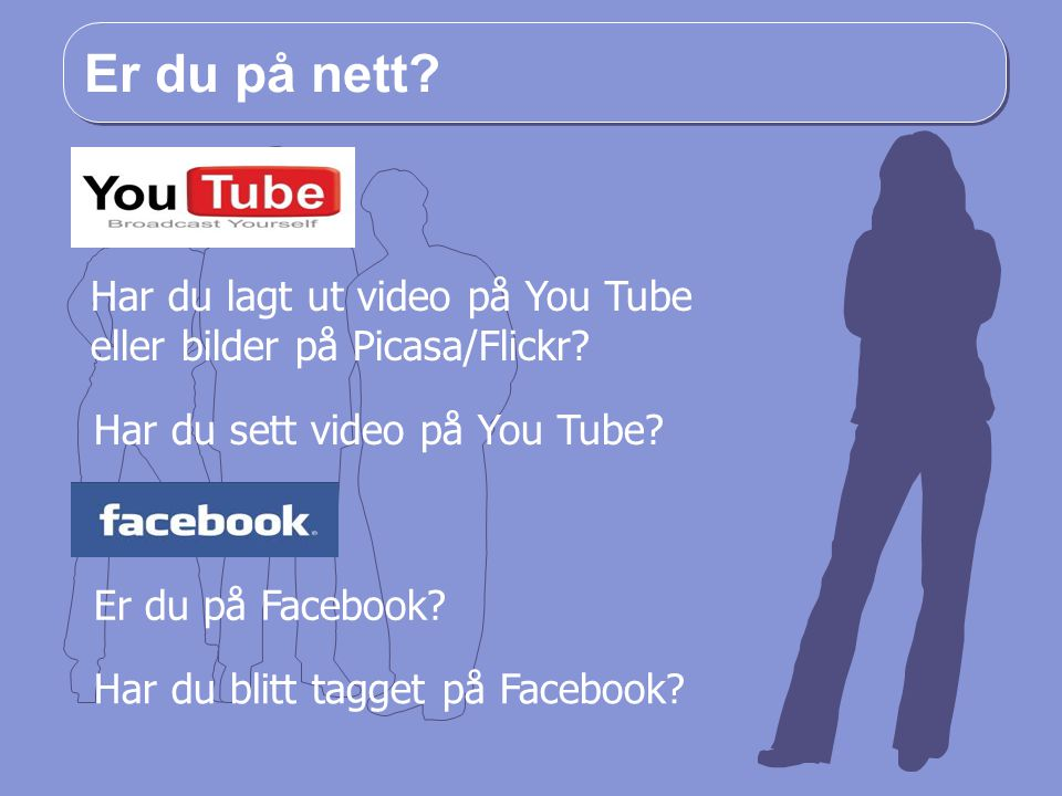 Er du på nett Har du lagt ut video på You Tube