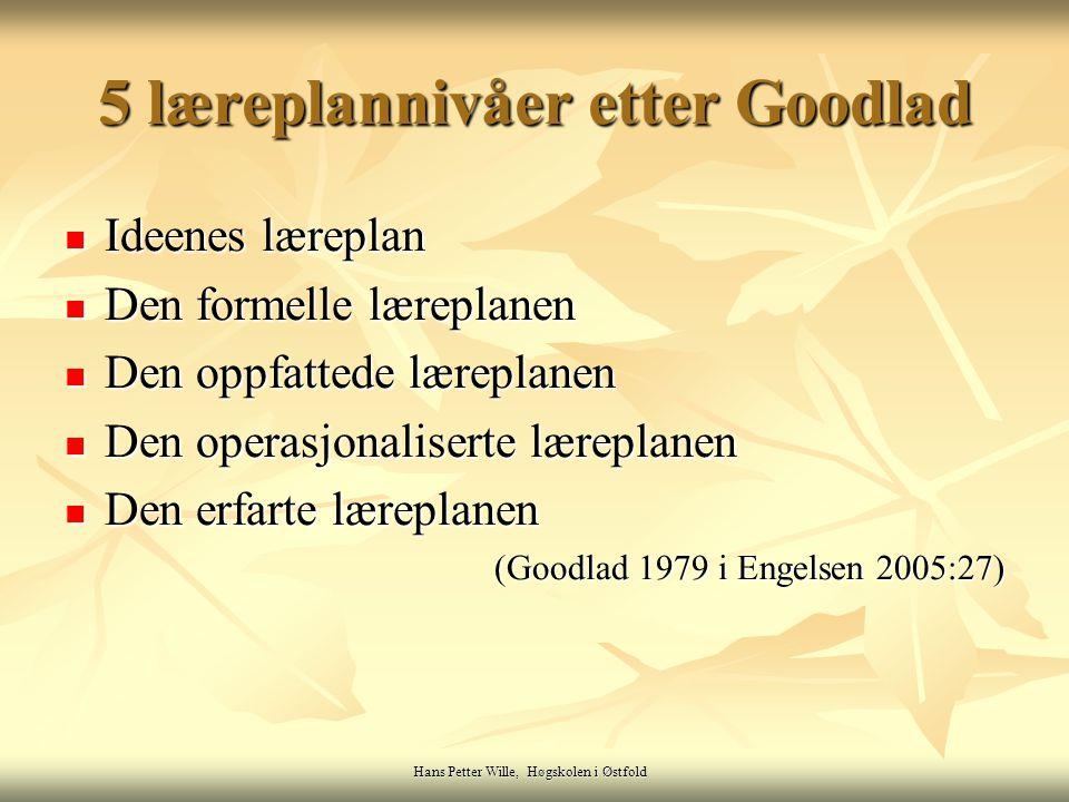 5 læreplannivåer etter Goodlad