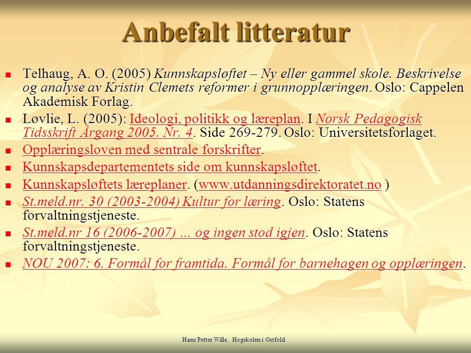 Hans Petter Wille, Høgskolen i Østfold