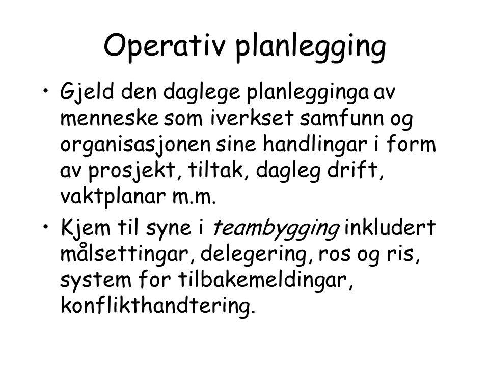 Operativ planlegging