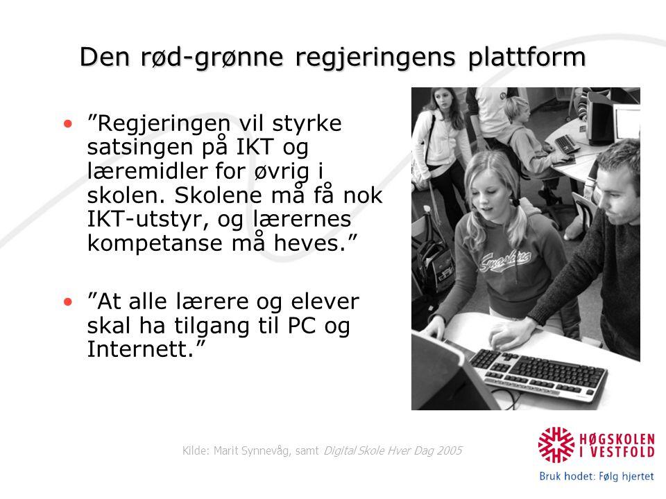 Den rød-grønne regjeringens plattform