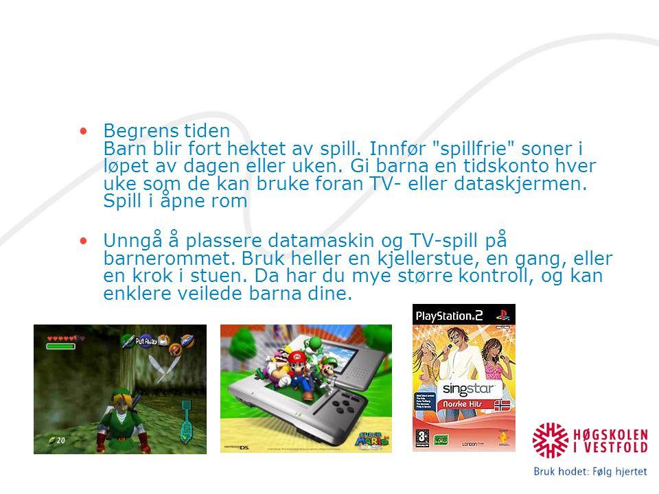 Begrens tiden Barn blir fort hektet av spill