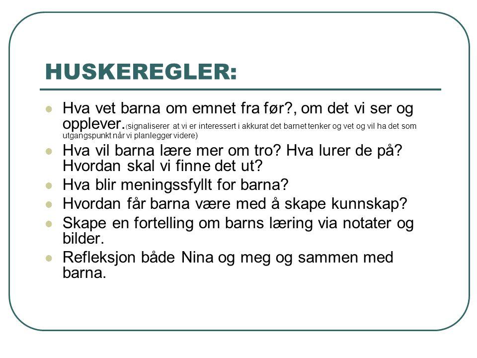 HUSKEREGLER: