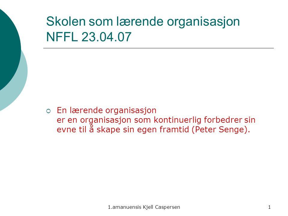 Skolen som lærende organisasjon NFFL 23.04.07
