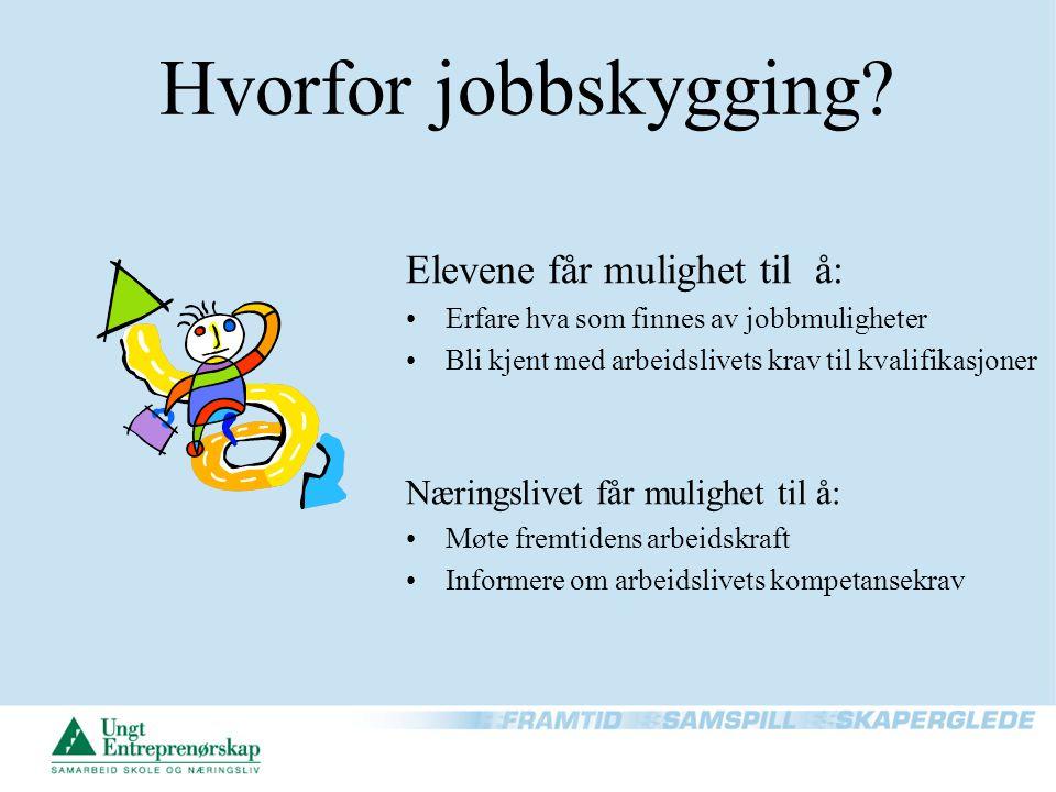 Hvorfor jobbskygging Elevene får mulighet til å: