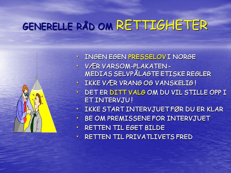 GENERELLE RÅD OM RETTIGHETER