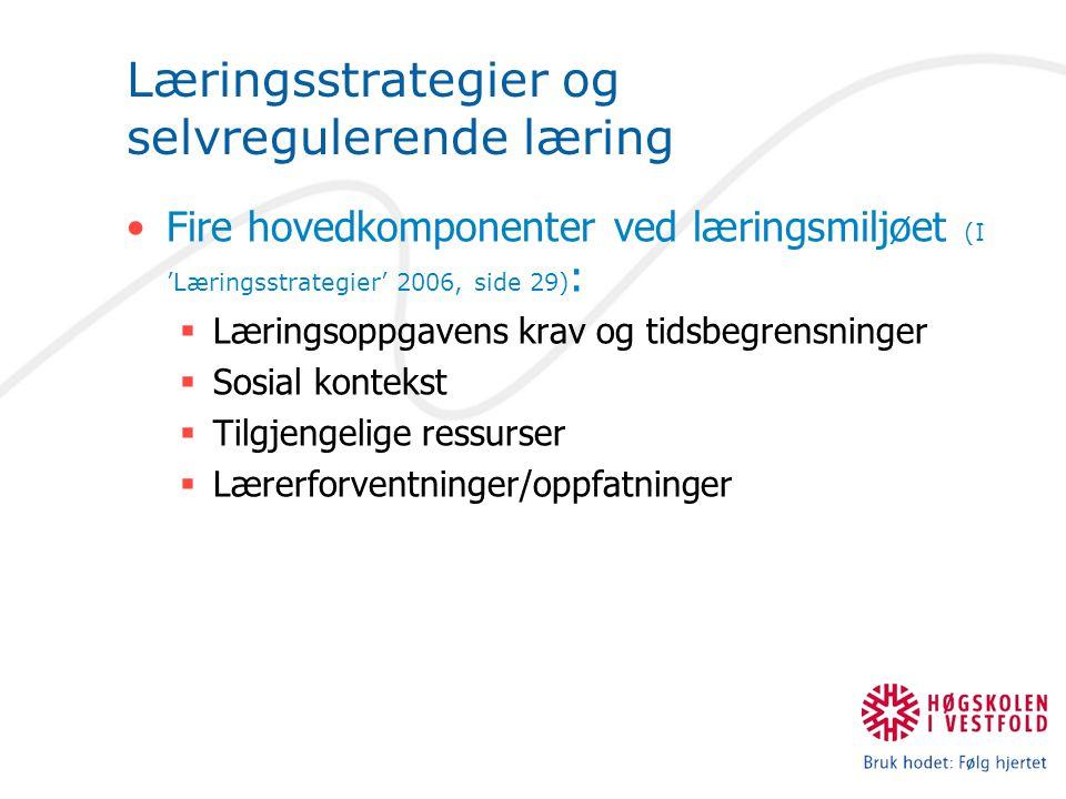 Læringsstrategier og selvregulerende læring