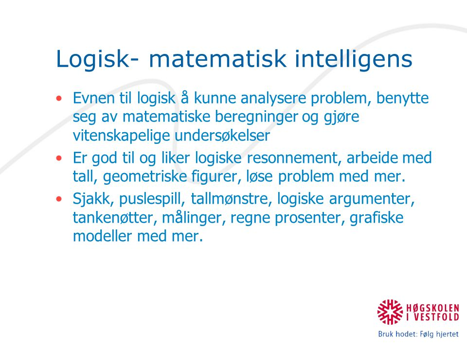 Logisk- matematisk intelligens