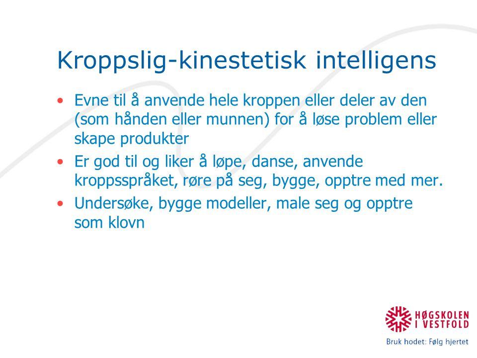Kroppslig-kinestetisk intelligens