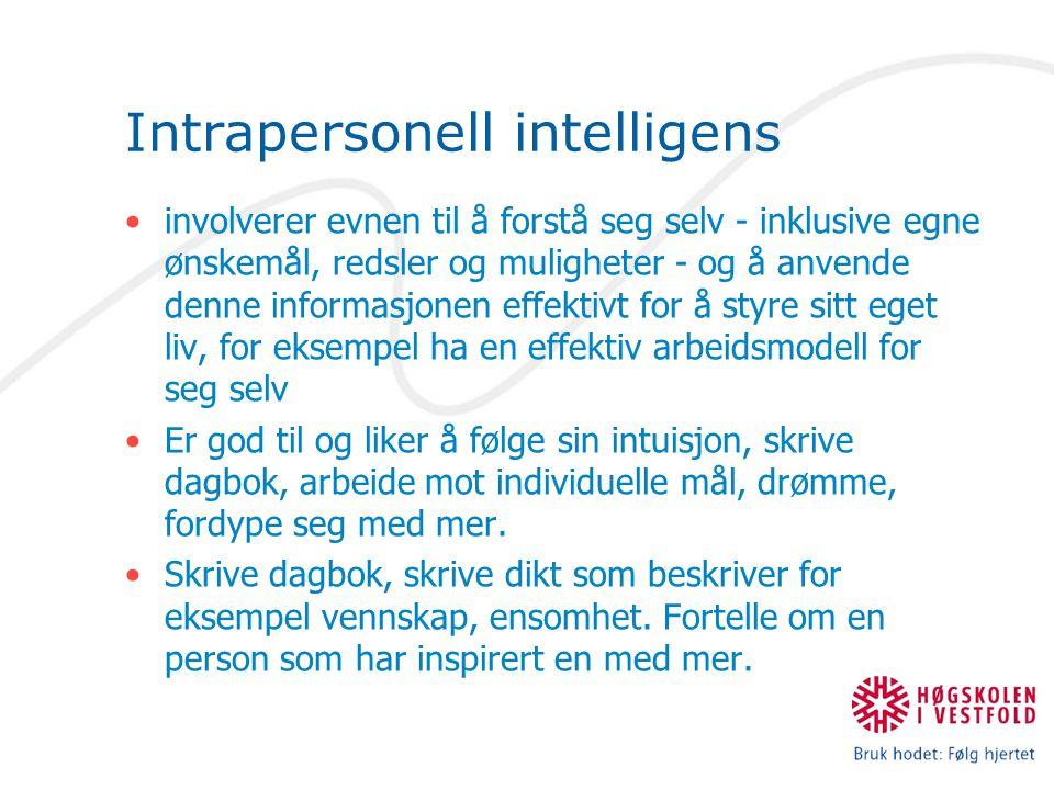 Intrapersonell intelligens