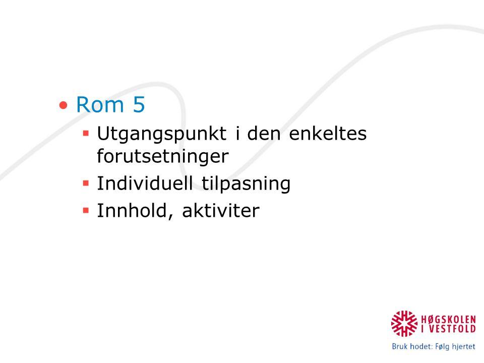 Rom 5 Utgangspunkt i den enkeltes forutsetninger