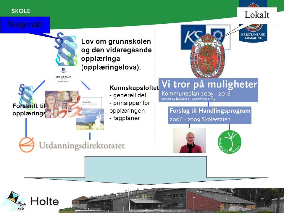 Lokalt Nasjonalt. Lov om grunnskolen og den vidaregåande opplæringa (opplæringslova).